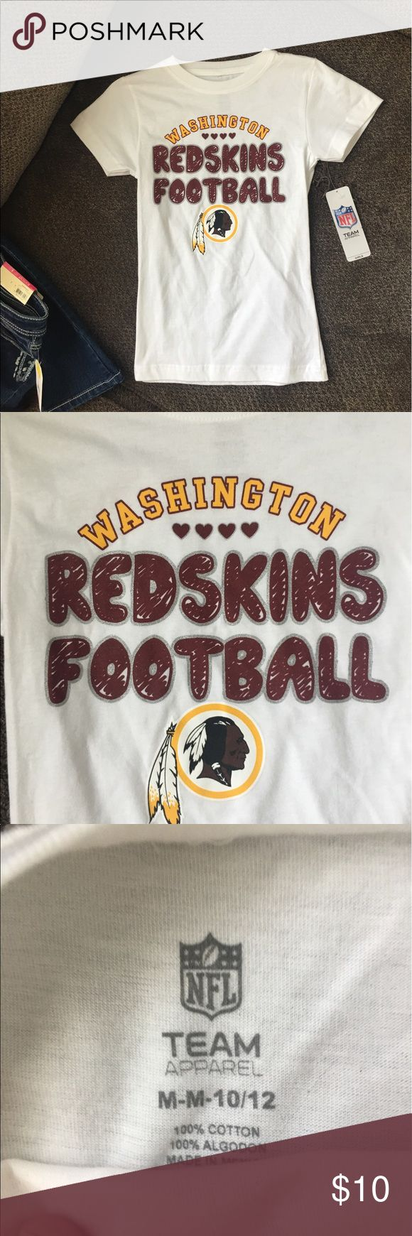 NWT girls medium NFL Redskins t shirt! NWT girls medium NFL Redskins t shirt! Shirts & Tops Tees - Short Sleeve