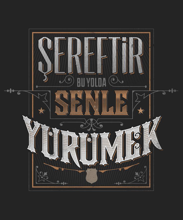 Typographic posters and t-shirts inspired by widely popular fan chants for the Turkish football team Besiktas JK. // Beşiktaş'ın ve Çarşı grubunun klasikleşen tezahüratlarından esinlenilerek tasarlanan tipografik poster ve tişörtler.