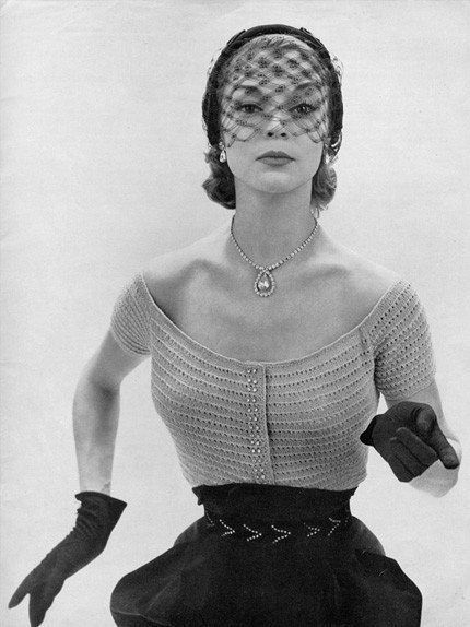 INSTANT PDF PATTERN 1950s Vintage Knitting Pattern Glam Evening Blouse Sweater Top  Sexy Retro Style Very Low Scoop Neckline on Etsy, $3.00