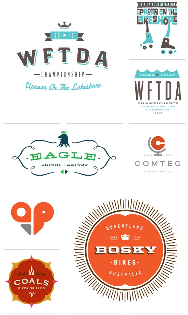 Logos + Icons by Allan Peters, via Behance