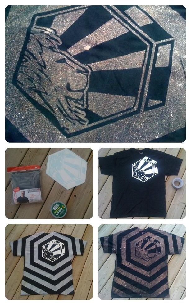 Bleach t shirt design materials a black t shirt bleach for T shirt design materials