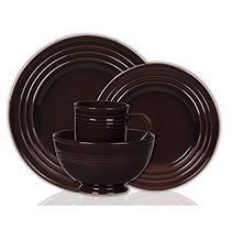 Colorsplash 16 pc. Stanza Stoneware Dinnerware Set - Brown