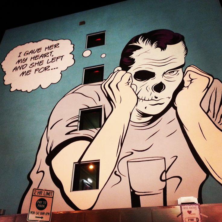 Wall mural at Life is Beautiful Festival in downtown Las #Vegas #lifeisbeautiful #lifeisart