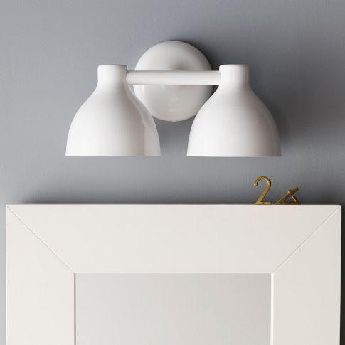 tenant apartment vanity lighting contour double sconce west elm 79 west elm pinterest. Black Bedroom Furniture Sets. Home Design Ideas
