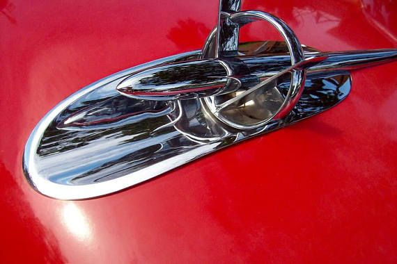 Buick Hood Ornament 1953 vintage car photography photo