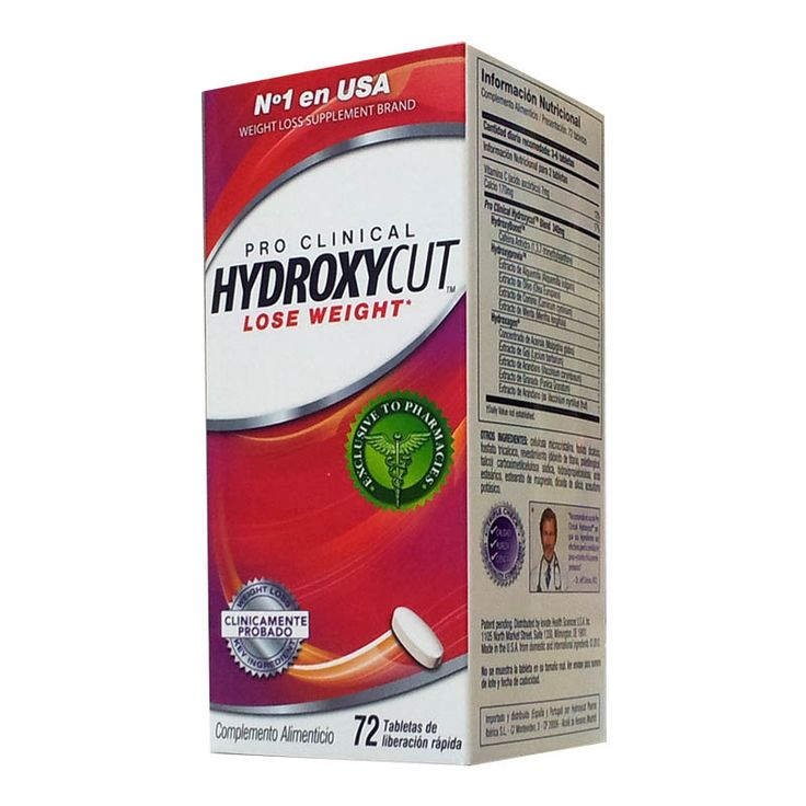 Pro Clinical Hydroxycut 72 tabletas