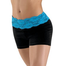 These Lace Waistband   Shorts are Leah's favorite because they're comfortable and don't ride up.