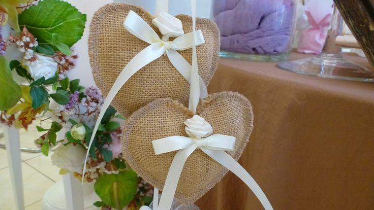 Μπομπονιέρα καρδιές 19021 - Γαμος | Βαπτιση| Στολισμός Γάμου