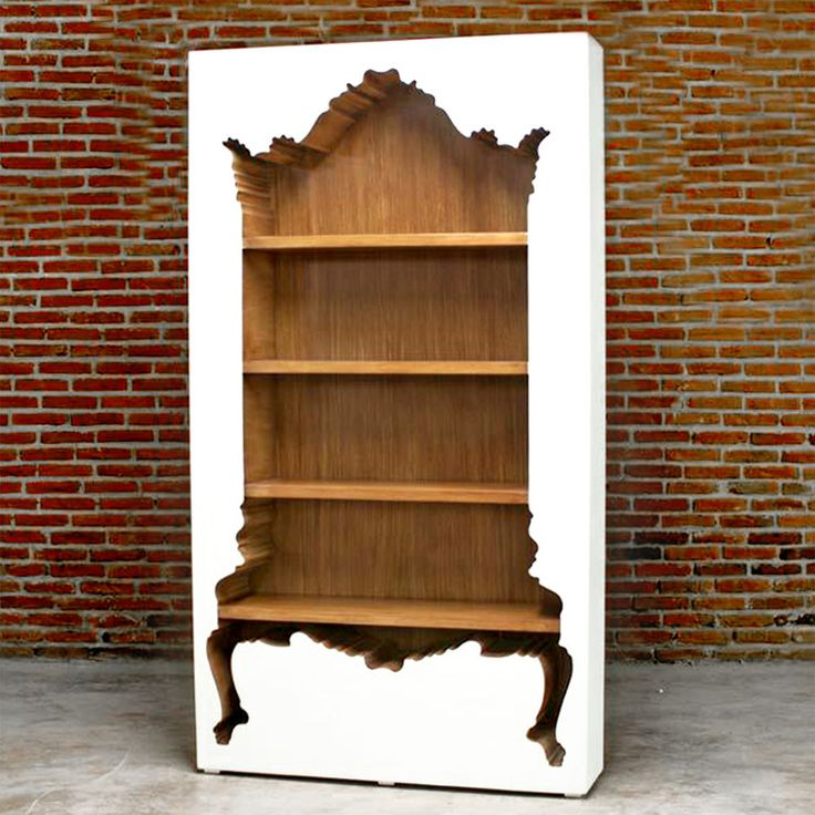 InsideOut Bookcase White By POLaRT. POLaRT Creates Fantastically Funky  Accent Furniture Where Baroque Style Meets