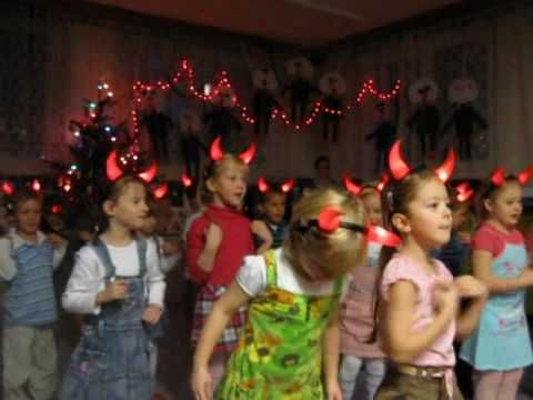 Kubíčkova besídka - čertí šaráda (Kubik's party in kindergarten - Devil charade) - YouTube