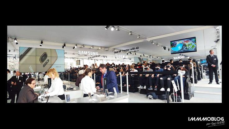 #MWC2016   #Barcelona  En marge du grandiose salon de Barcelone cette semaine, visite à la boutique éphémère… SAMSUNG STORE ! Comme par hasard juste en face de l'… APPLE STORE ! Place de Catalunya