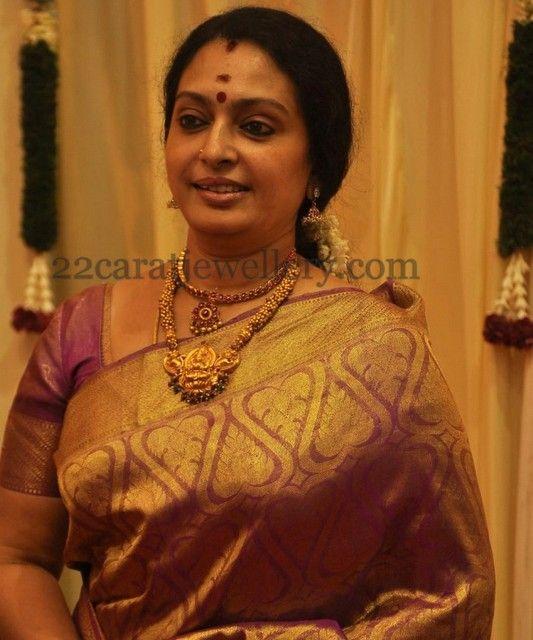 Jewellery Designs: Actress Seeta's Temple Jewellery