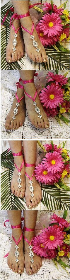 173 best Barefoot Sandals Foot Jewelry Beach Wedding Footless