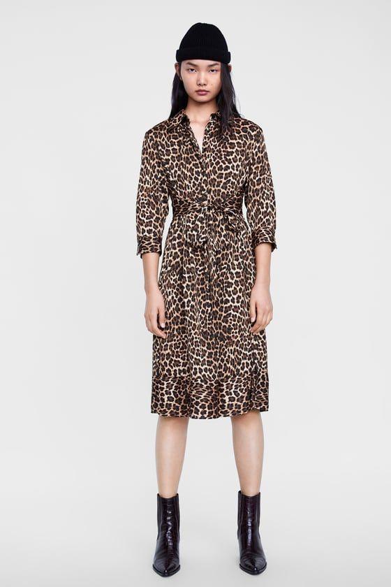 3cfa27f29df ZARA - WOMAN - ANIMAL PRINT DRESS