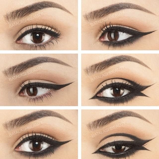 Glitter eye makeup tips glitter eye makeup ideas - Different Types Of Eyeliner Wings Www Imgarcade Com