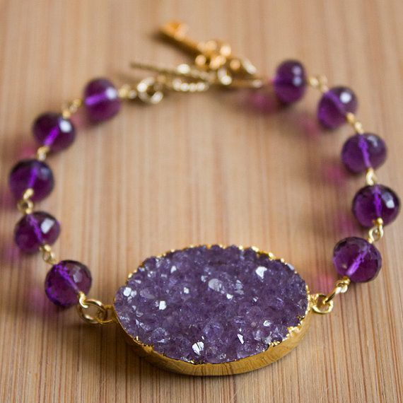 druzy jewelry purple druzy bracelet