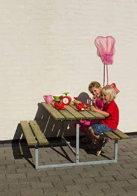 Bænk og bord, børnestørrelse