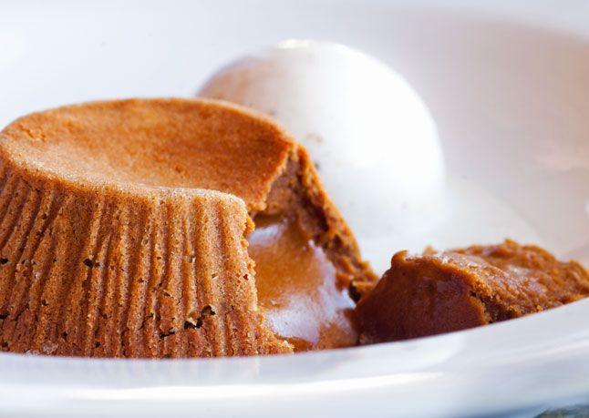 It's the caramel version of a lava cake!!  Recipe: Molten Dulce de Leche