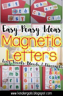 One thing every teacher has is magnetic letters. But really, what is exciting about a magnetic letter? Here are some lesson plans to help you use your magnetic letters in your classroom!