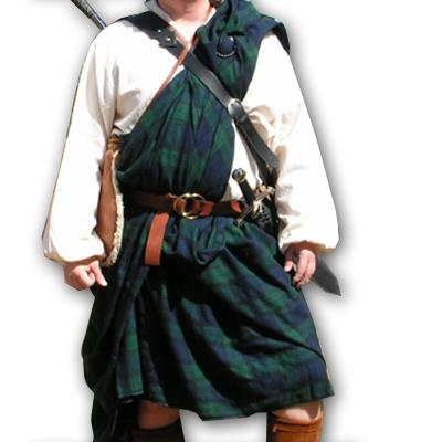 "The ""breacan an fheilidh"" or ""feile mor."" The great kilt dates back to at least the 16th century."