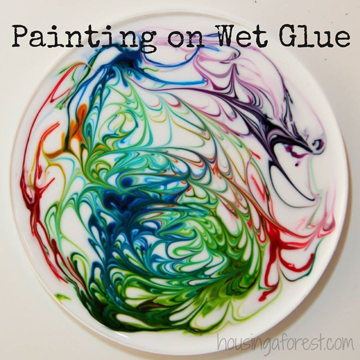 Glitter Glue And Paint Color Inspiration: 10+ Images About Ways To Paint With Kids On Pinterest