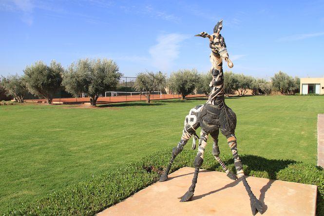 Private garden of the Palmeraie Deluxe Villa in Marrakech