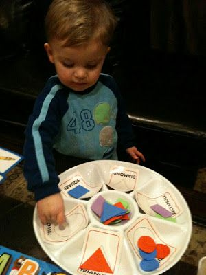 DIY Grouping Shapes Activity, the avtivity helps children to develop a better understanding of the form of the shapes.