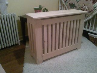 Originally, I wanted to build a radiator cover that would protect my daughters from our cast-iron, steam radiators. Steam radiators get much hotter than hot water...