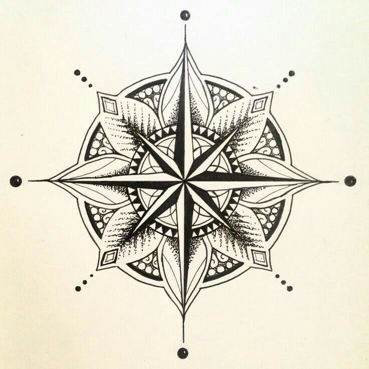 Mandala Compass Tattoo
