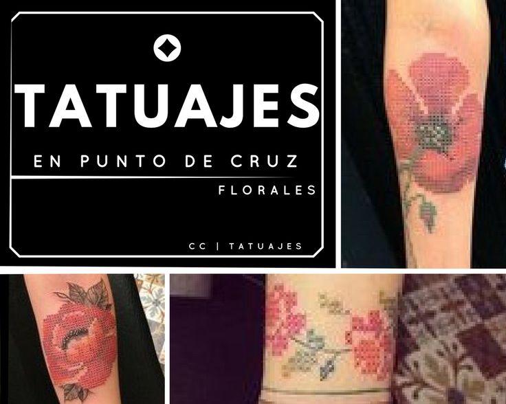 Tatuajes en punto de cruz para personas creativas