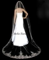 Royal Collection - FREE BLUSHER - Emiliana royal and regal length wide cathedral wedding veil