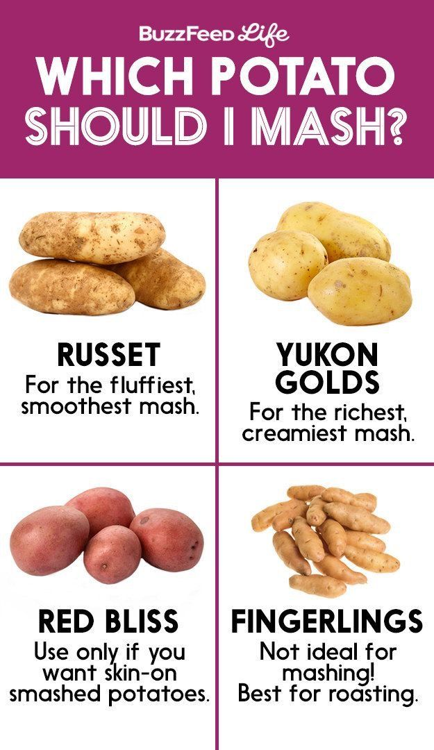 Potatos: Root Vegetables, which will mash the best.