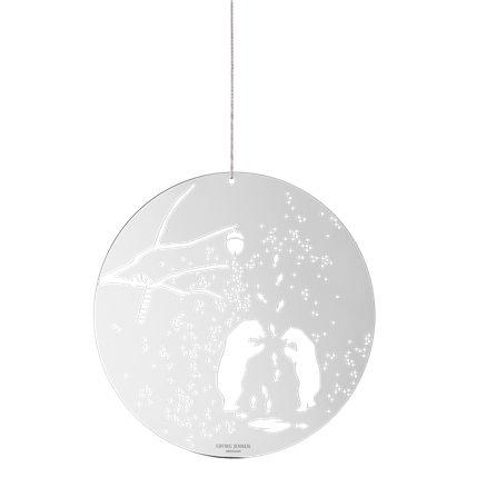 DECEMBER TALES julepynt, isbjørn og sukkerstang, stor, blank