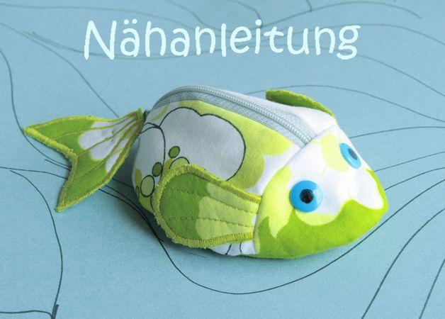 Nähanleitungen Baby - Nähanleitung Schnullertasche Fisch Portemonnaie - ein Designerstück von orimono bei DaWanda