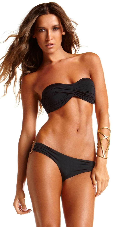 Vitamin A Black Bandeau #Bikini Top. Just the top. Black. Size 10. 92.00.
