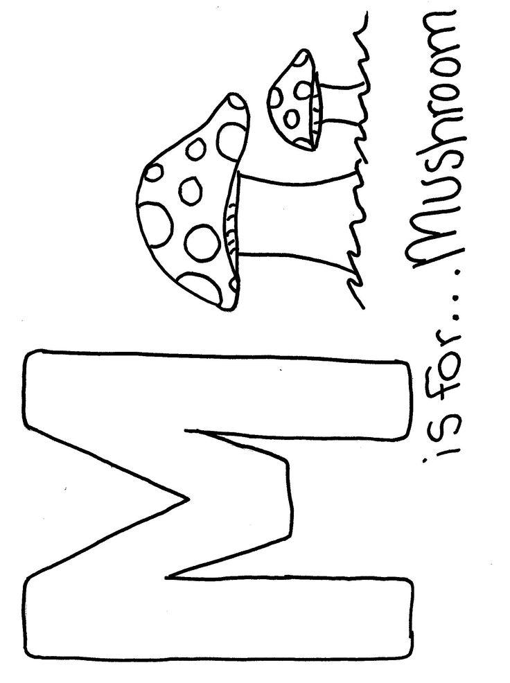 Funny Alphabet With Mushrooms Image