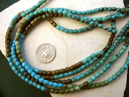 Turquoise Barrel Beads 5mm x 5mm
