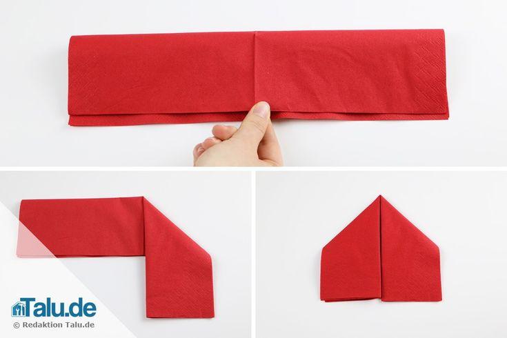 25 einzigartige servietten falten tannenbaum ideen auf. Black Bedroom Furniture Sets. Home Design Ideas