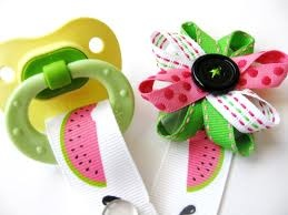 ribbon pacifier clips - Google Search