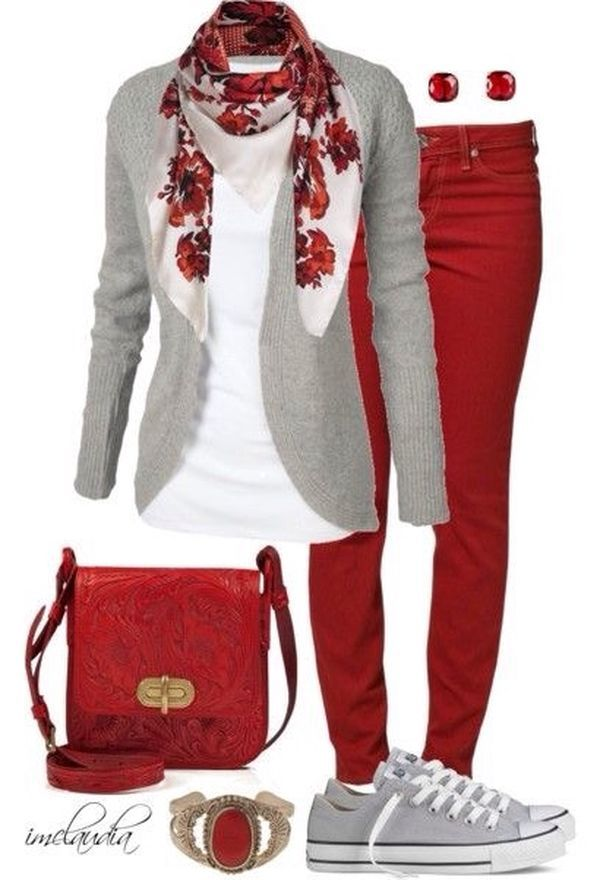 Best 25+ Red Pants Outfit Ideas On Pinterest | Burgundy Jeans Red Skinny Jeans And Red Pants