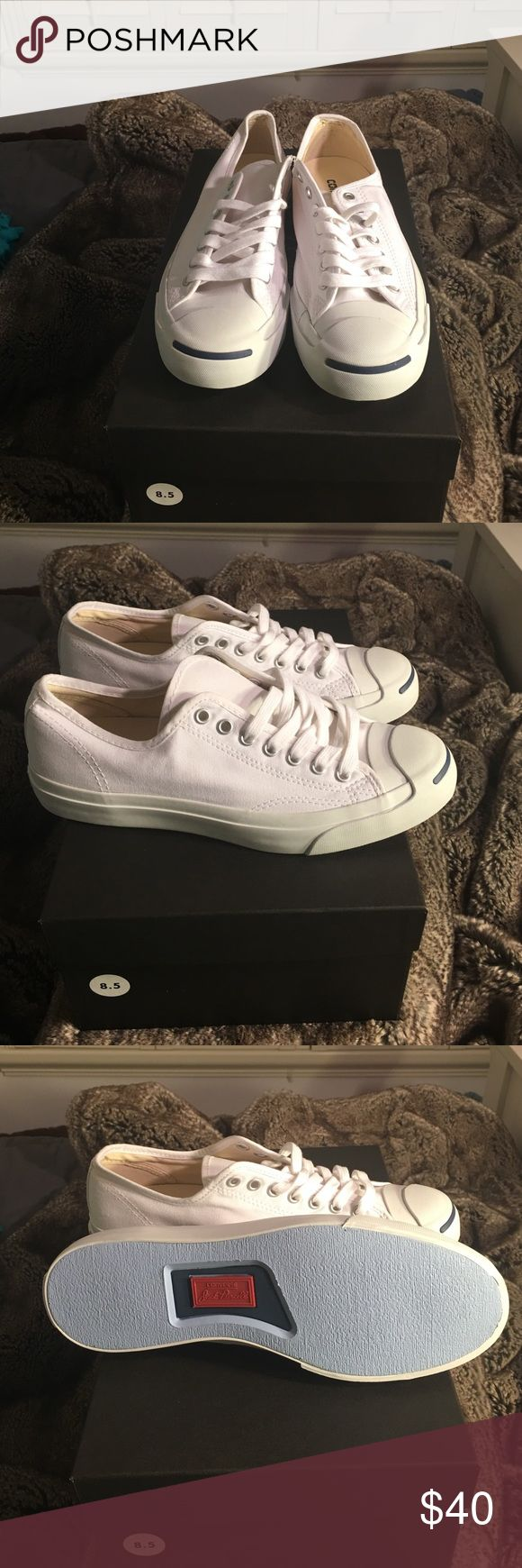 Converse Jack Purcell Size 8.5 men 10 WO's All white brand new Jack Purcell Converse Converse Shoes Sneakers