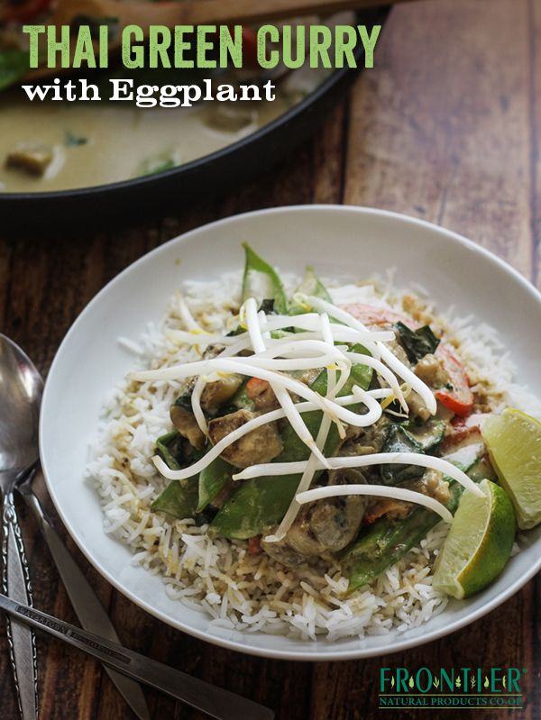 Green curry, Thai basil leaves and Eggplants on Pinterest