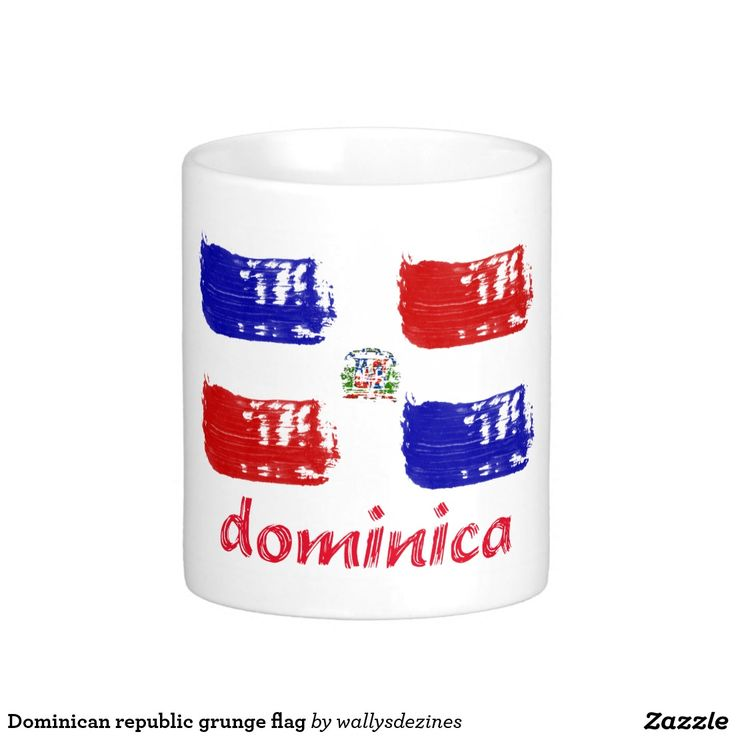 Dominican republic grunge flag coffee mug