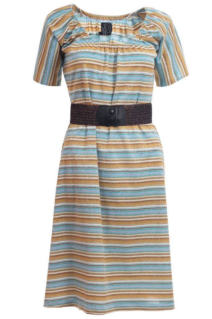 I love everything that sparkles including this retro Lynn dress in blue and kobber stripes