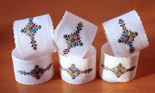 Hand embroided napkins holders. Inspired by Moroccan art