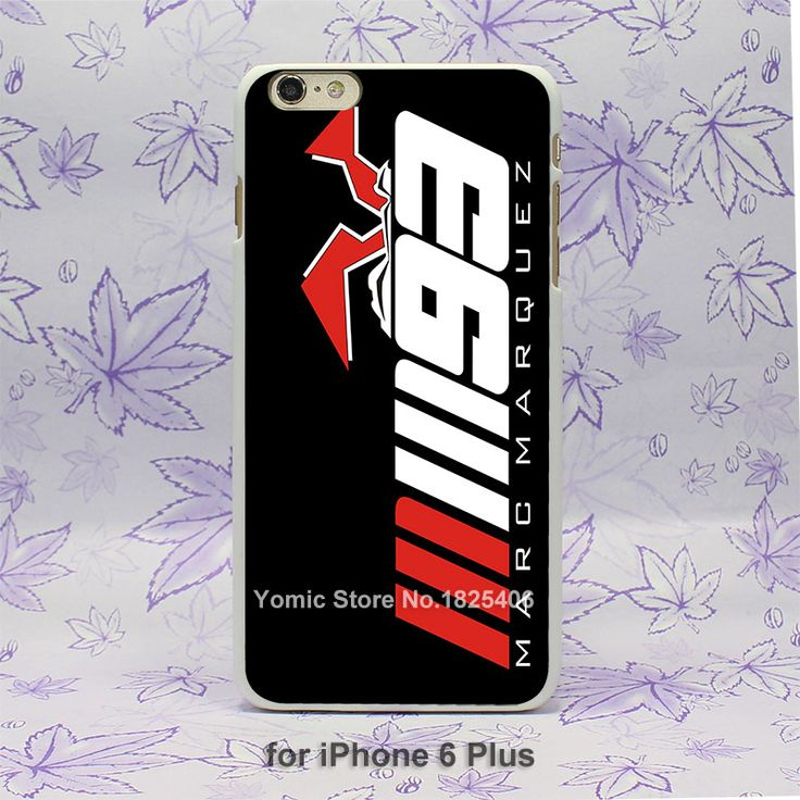 mm 93 marc marquez Pattern hard White Skin Case Cover for iPhone 4 4s 4g 5 5s 5g 5c 6 6s 6 Plus