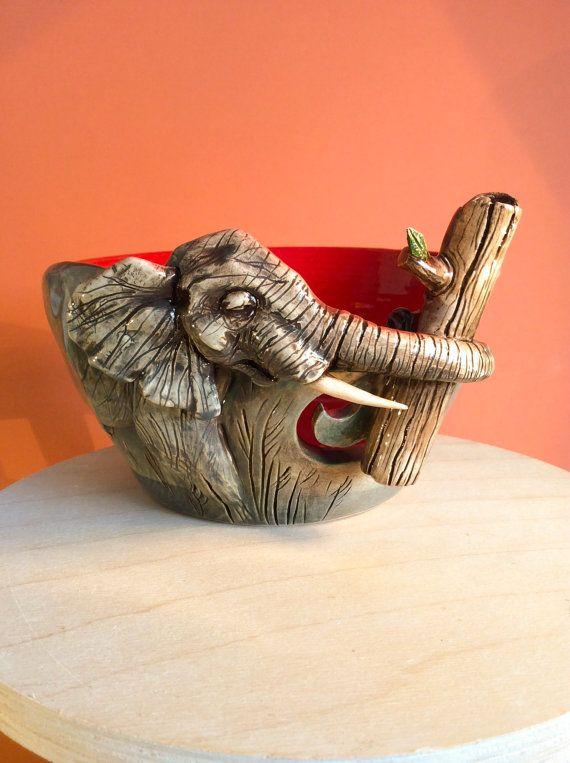 Yarn Bowl  Elephant by EarthWoolFire on Etsy, £100.00