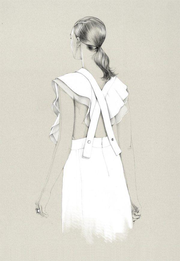 캐롤라인 Andrieu 7 패션 스케치
