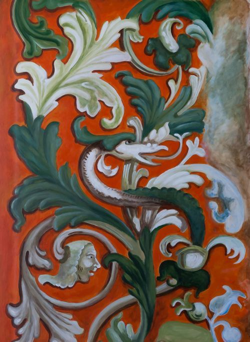 Ornament fresk