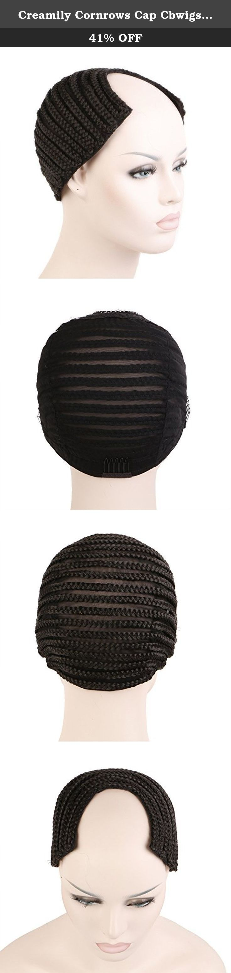 Creamily Cornrows Cap Cbwigs Wave Cap Braided Wig Cap for Easier Sew Hair Weft Designed with Combs Medium Cap (Black U-Part Style). End your weave worries and protect your natural hair. The versatile design allows you to create weave styles and wig units. One size of Cornrow Wig Cap fits all The lace is Elastic Lace, and there are combs under the wig Cap color: Black Cap Style: U part style Package Included: 1 x Cornrows Cap.